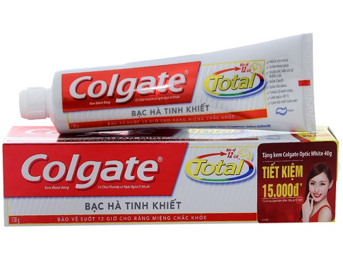 Toothpaste Colgate total mint